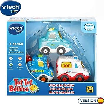VTech TutTut Bólidos Pack de 3 vehículos con botón Sorpresa, Lula ...