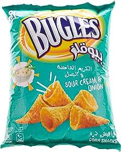 قراقيش بيوقلز بطعم الكريمة الحامضة والبصل كبير ، 125 غم