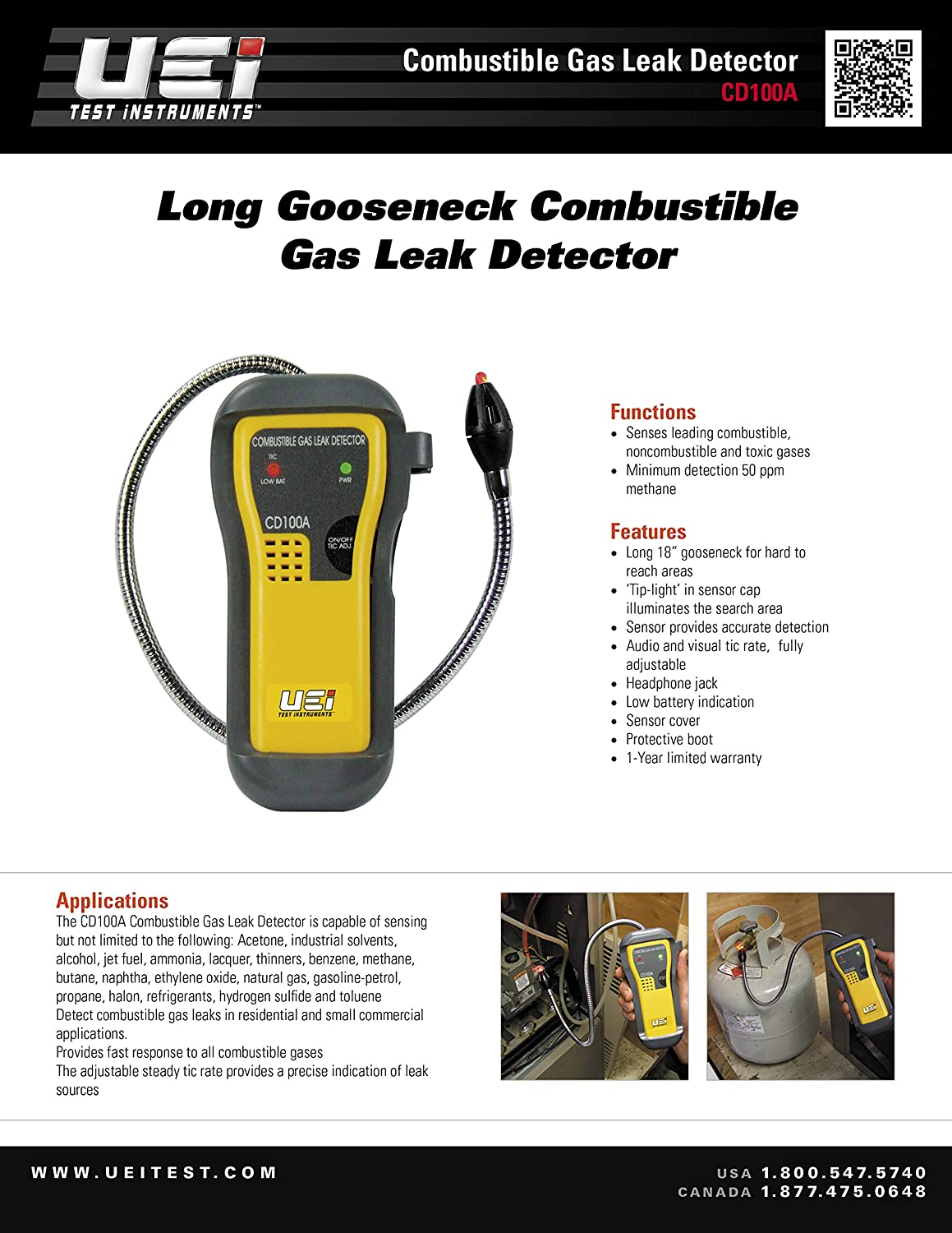 Amazon com: UEi Test Instruments CD100A Combustible Gas Leak