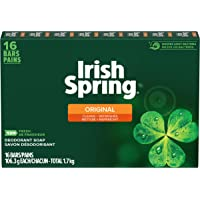 Irish Spring Deodorant bar Soap, Original, 16 Bars