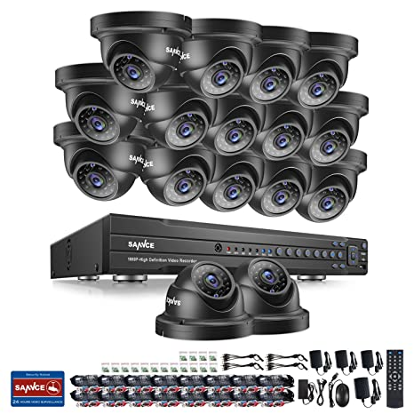 Sannce Home 1080P sistema de cámara de vigilancia – 16 ch grabador DVR 1080P + 16