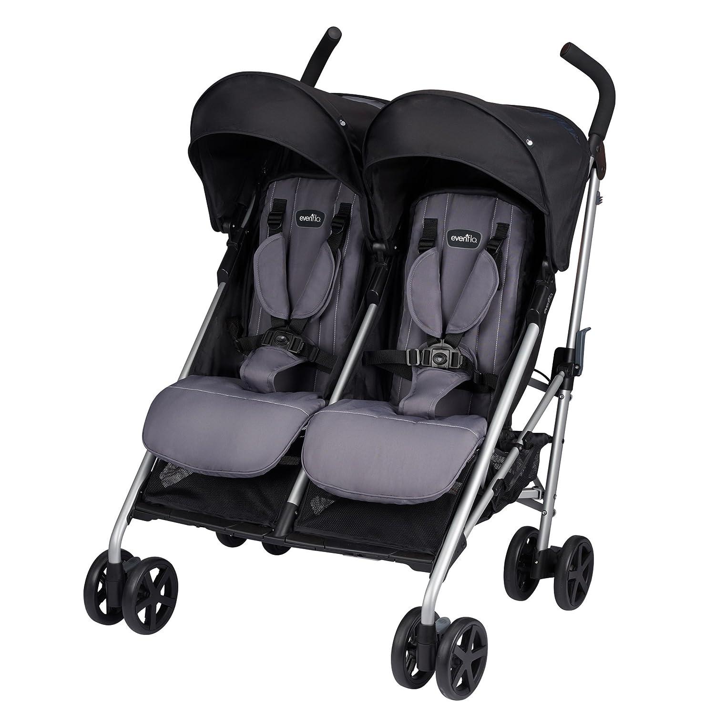 amazoncom  evenflo minno twin double stroller glenbarr grey  baby -