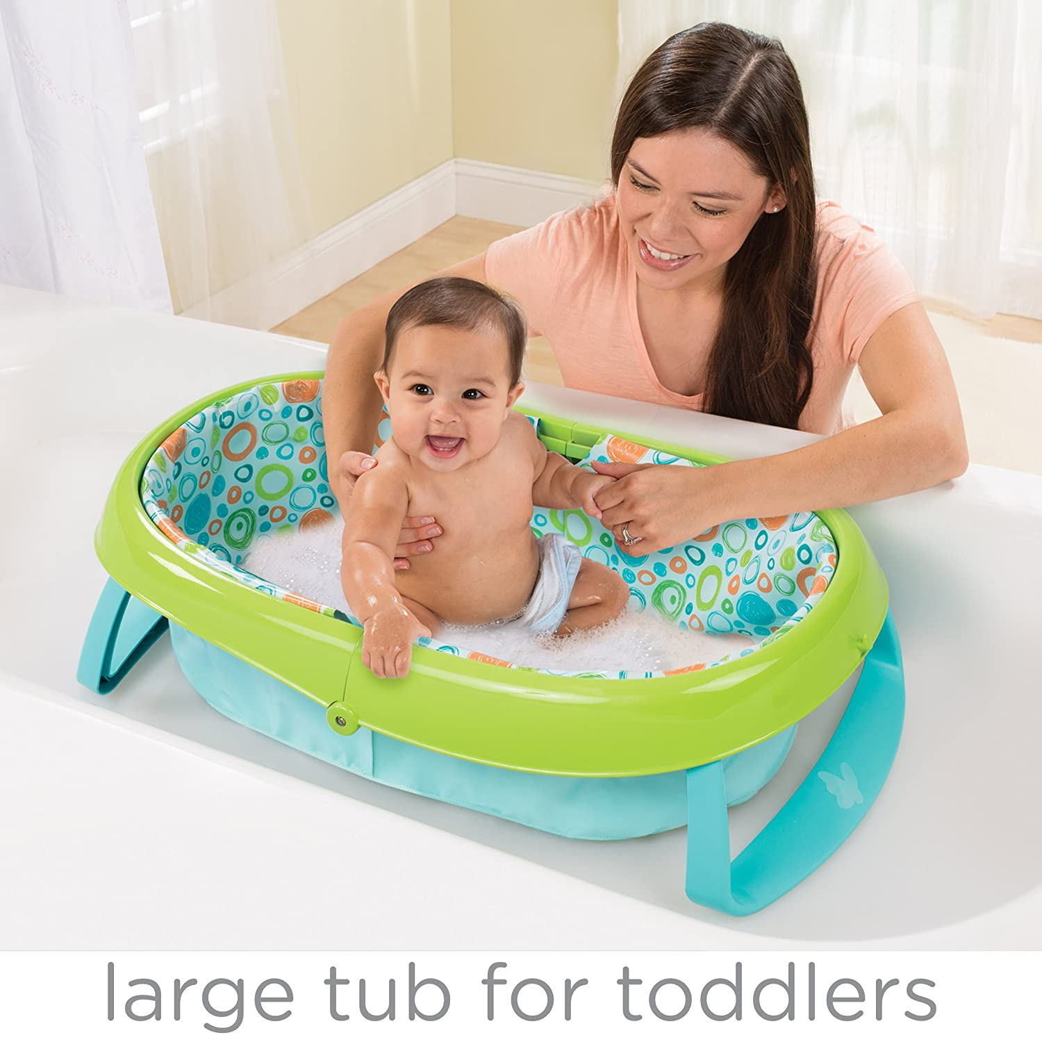 Amazon.com : Summer Infant EasyStore Comfort Tub, Blue : Baby
