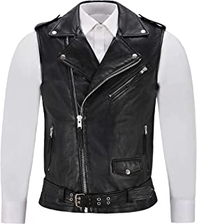 First Manufacturing The Raceway Mens Rolled Collar with Hidden Snap Collar Vest