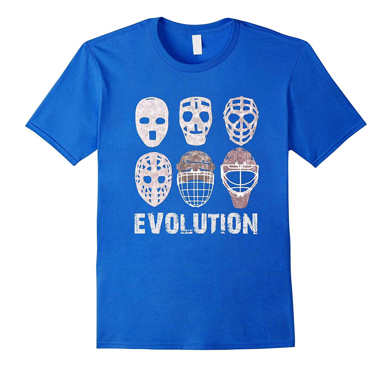 Hockey Goalie Mask Evolution T Shirt Cl Colamaga