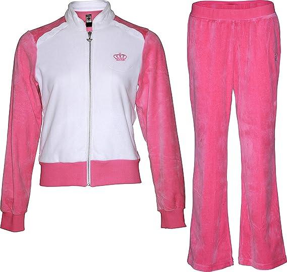 5c3e8b5aa2c Amazon.com: adidas BL Velour Women's Tracksuit (XL, Blush/White ...