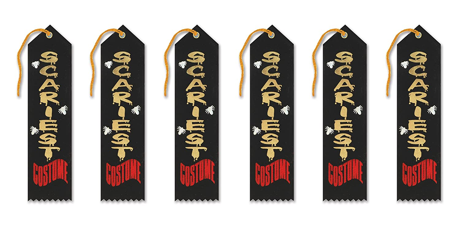 2-Inch by 8-Inch Beistle HAR504 6-Piece Scariest Costume Award Ribbon