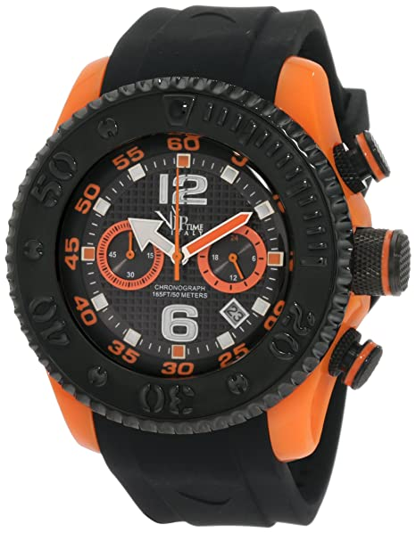 VIP TIME ITALY Reloj con movimiento cuarzo japonés Man VP5051OR_OR 47 mm: Amazon.es: Relojes