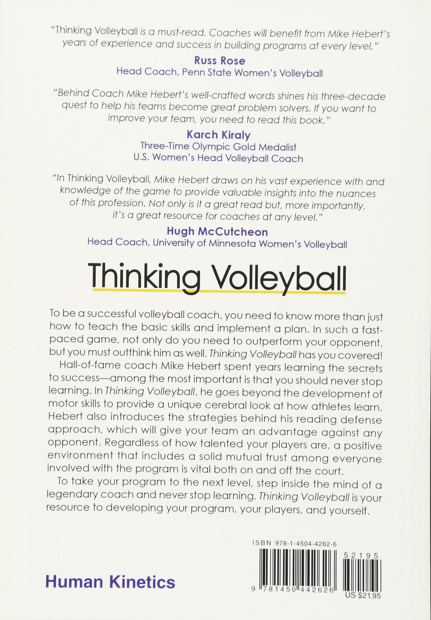 Thinking volleyball mike hebert 9781450442626 amazon books malvernweather Images