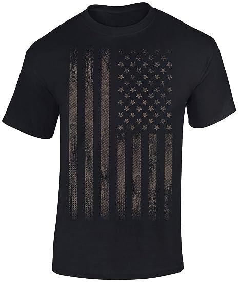 Idee Cadeau Etats Unis.T Shirt Stars And Stripes Camo Style Drapeau Usa Tee Shirt Motard Biker Rock Chopper Etats Unis Idee Cadeau Homme S Femme S United