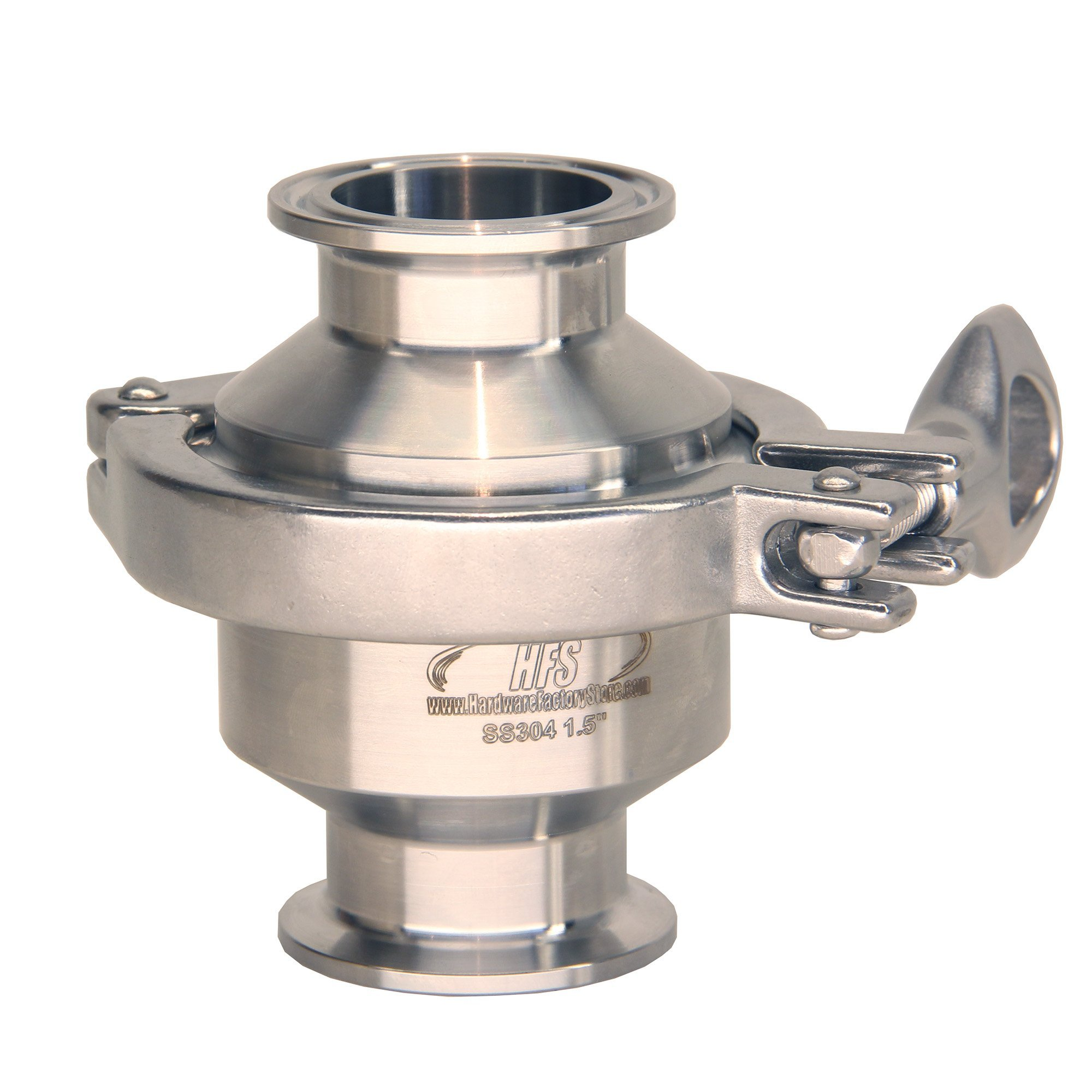 HFS (R) Sanitary Check Valve - One Way Flow - Tri Clamp Clover Stainless Steel (1.5IN)