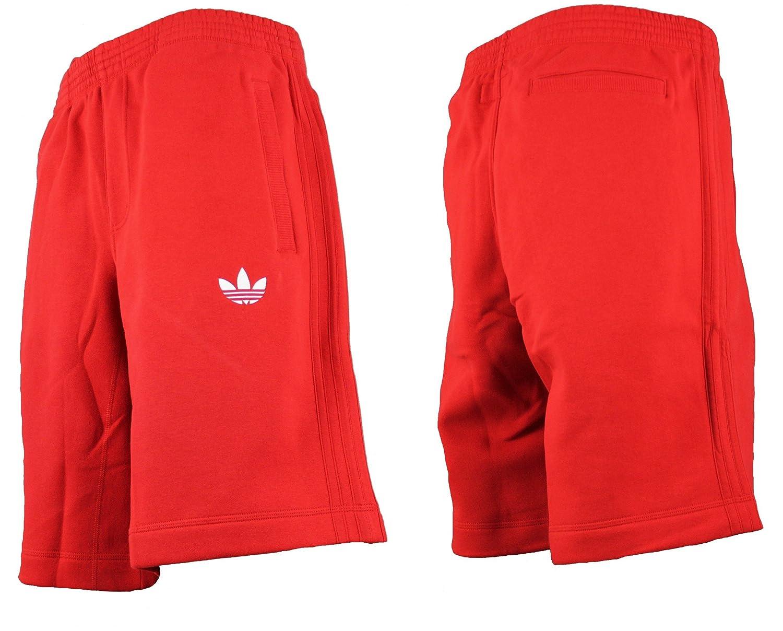 adidas Originals Firebird forro polar rojo pantalón corto de ...