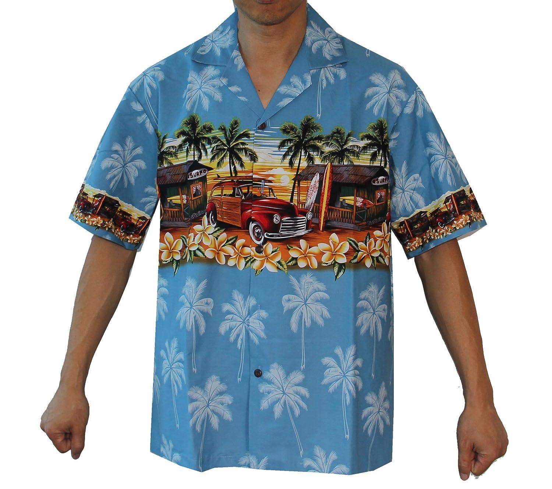 fcbd194e5 Made in Hawaii Men's Woody Sunset Hawaiian Luau Cruise Aloha Shirt at  Amazon Men's Clothing store: