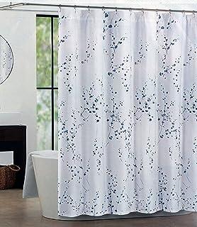 Tahari Fabric Shower Curtain Blue, Silver, ...