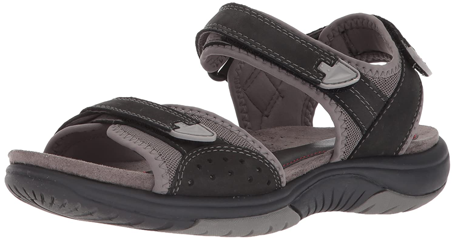 Rockport Women's Franklin Three Strap Sport Sandal B073ZTQ4NY 7 W US|Black