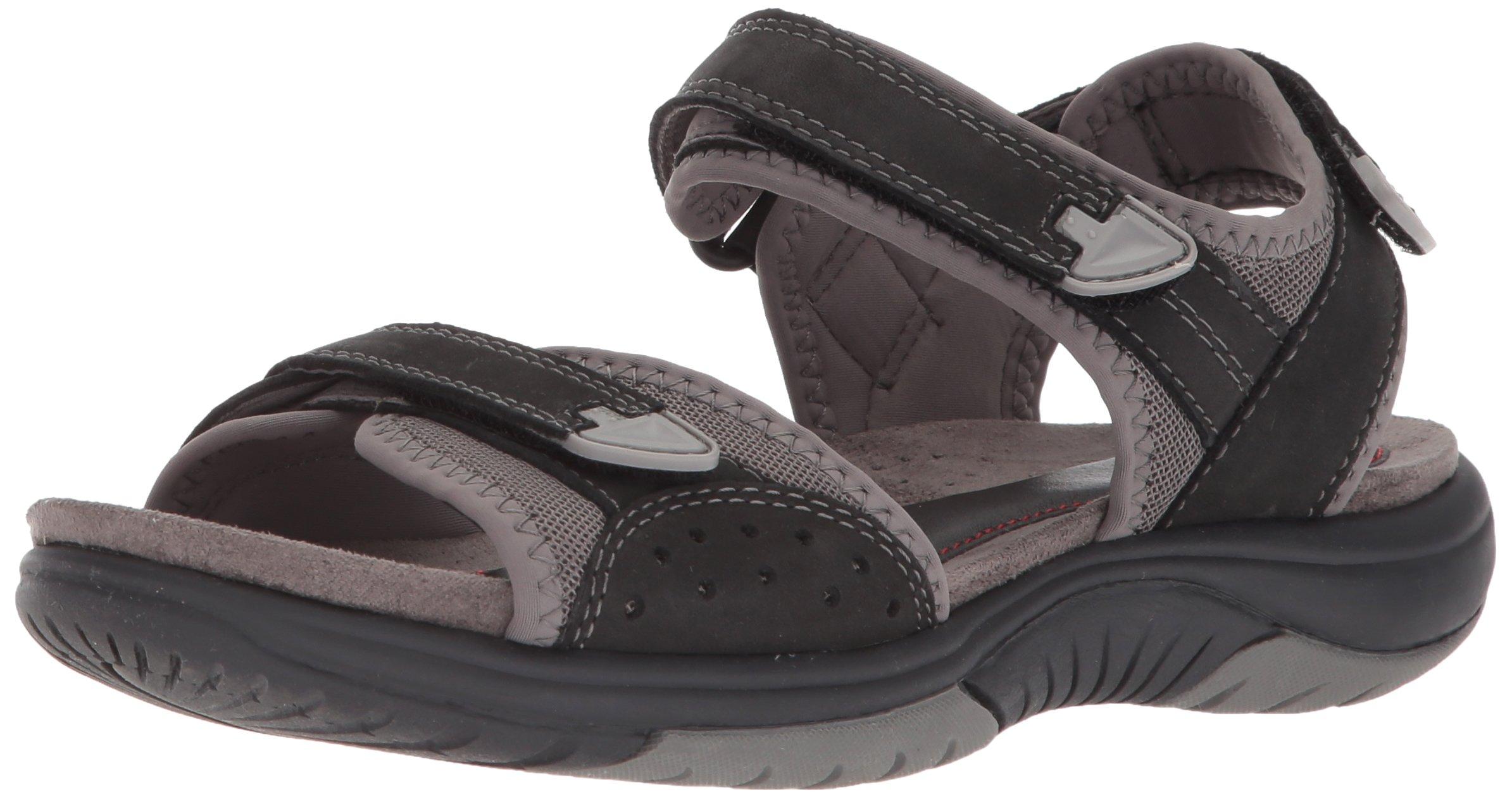 Rockport Women's Franklin Three Strap Sport Sandal, Black, 9.5 M US