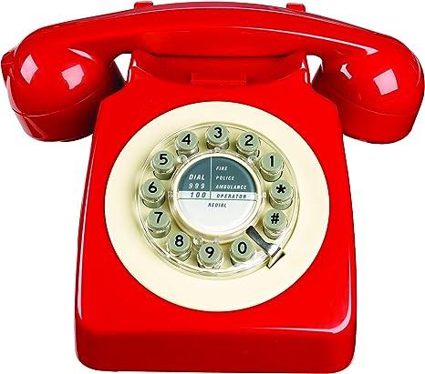 Amazon.com : Wild Wood 746 Phone, Retro Design, Red : Electronics