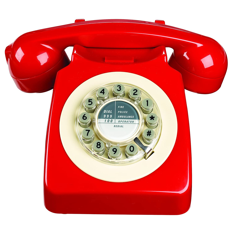 Wild Wood Rotary Design Retro Landline Phone for Home, Petrol Blue Wild & Wolf TP041