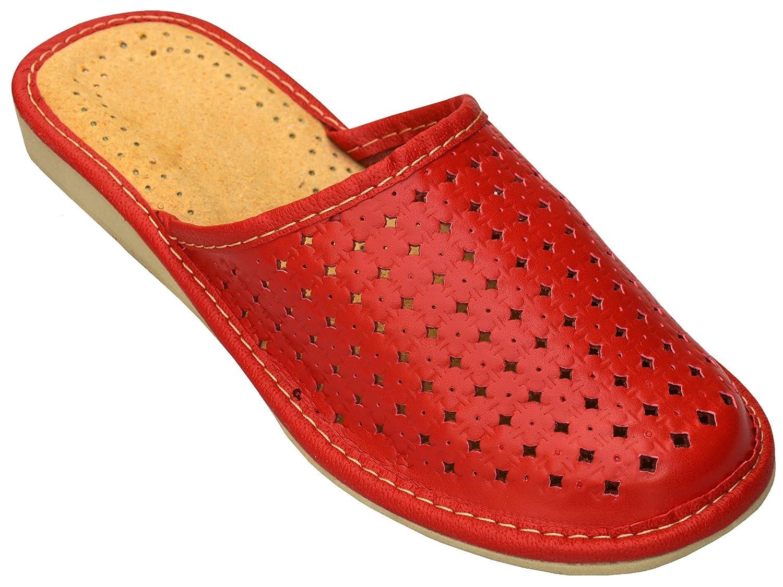Bawal Chaussons pantoufles pour les femmes confort naturel cuir chaussons pantoufles marron taille 36-41 XB01