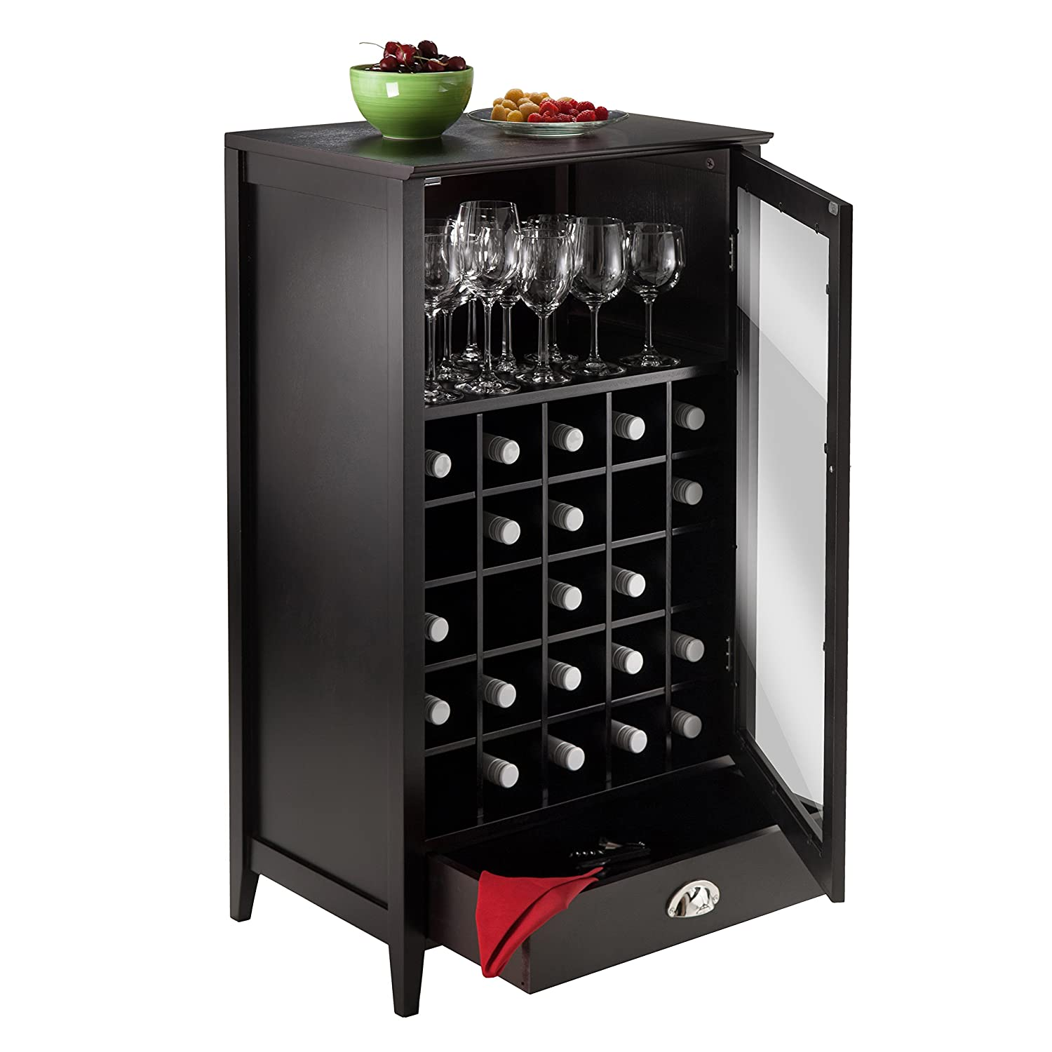 Amazon Winsome Wood 25 Bottle Slot Modular Bordeaux Wine