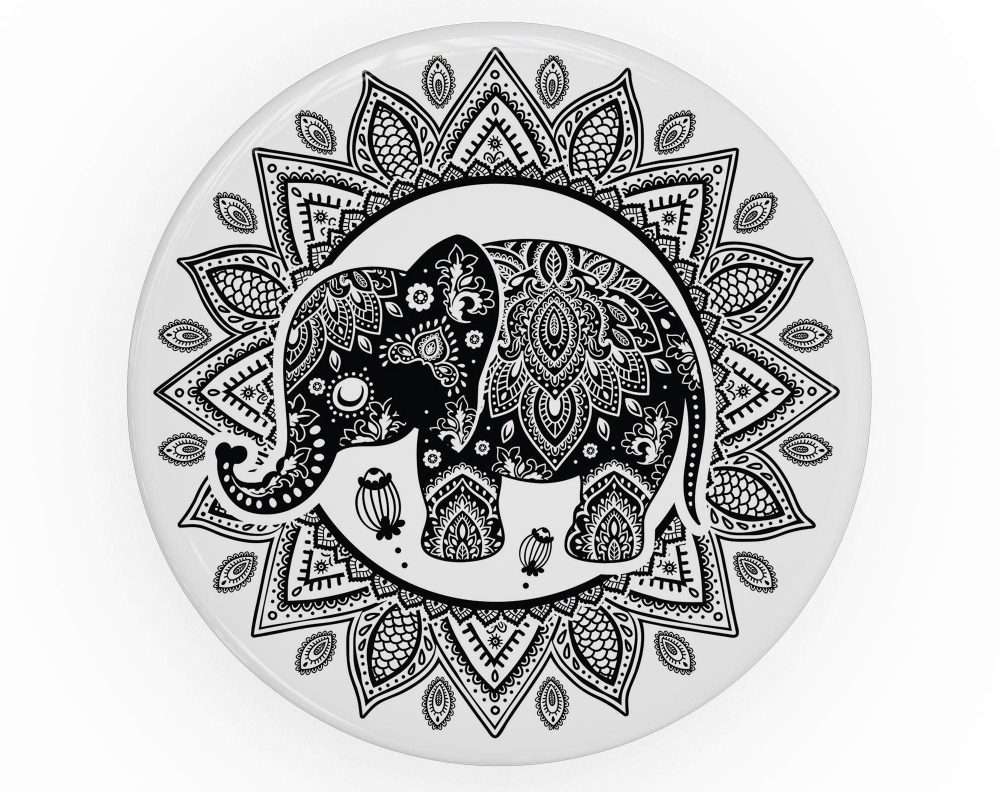 Indian Mandala Elephant - DesignSkinz Premium Decal Sticker Skin-Kit for PopSockets Smartphone Extendable Grip & Stand by iiRov (Image #6)
