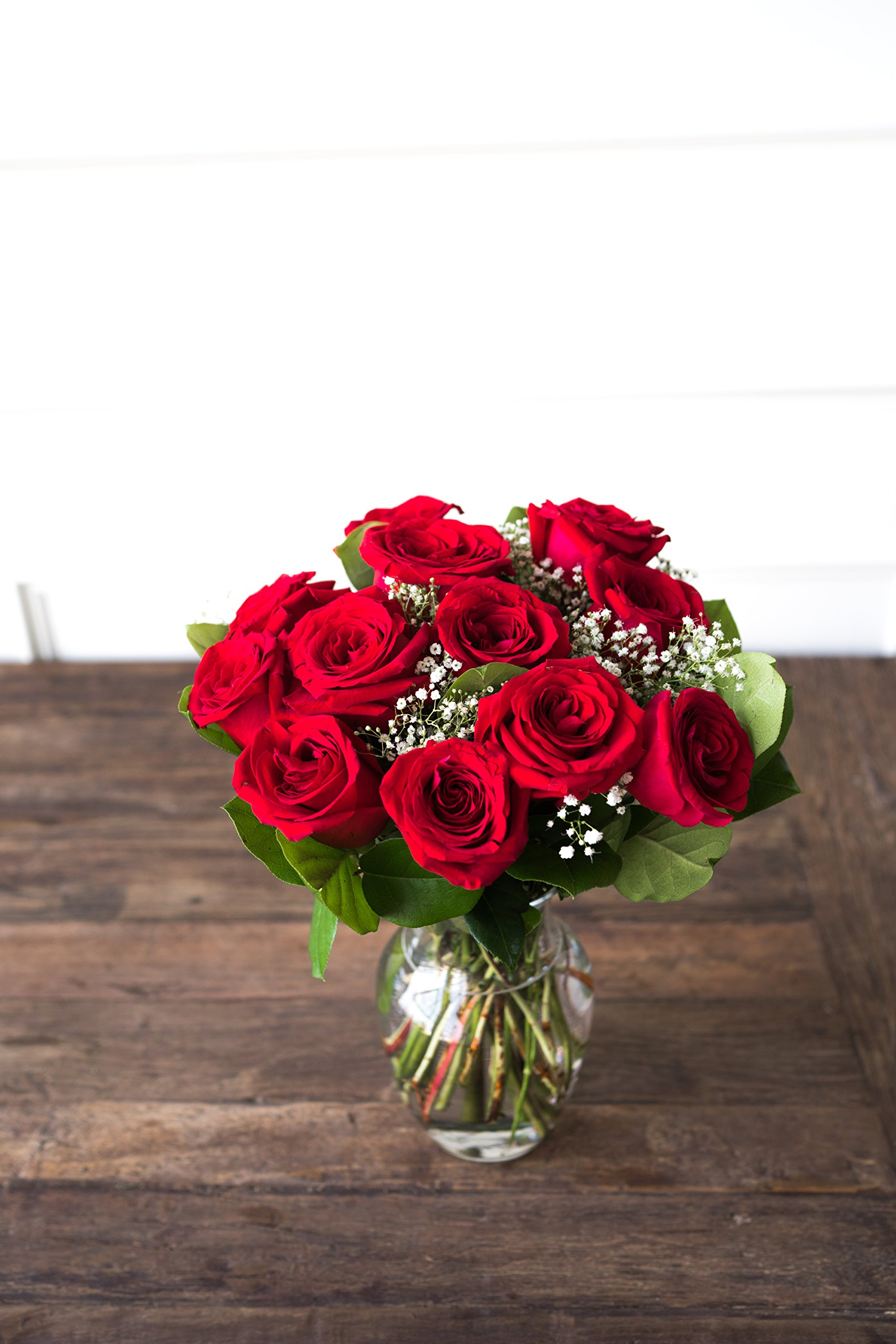 Flowers - One Dozen Long Stemmed Red Roses (Free Vase Included) by From You Flowers (Image #3)