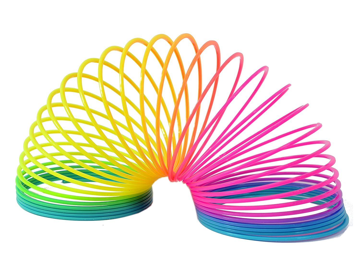 LARGE RAINBOW SPRING COIL SLINKY FUN KIDS TOY MAGIC STRETCHY BOUNCING NEW UK 6.5