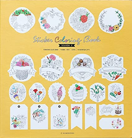 Amazon.com: Sticker Coloring Book - Adult Coloring Book stickers to ...