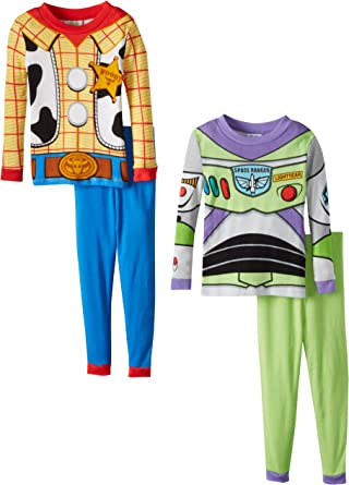 Disney Toy Story Toddler Boys/' Woody And Toys At Play 4 Piece Pajama Set