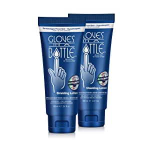 Gloves in a Bottle Shielding Lotion, Relief for Eczema and Psoriasis, 3.4 ounces (Pack of 2)