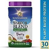 Sunwarrior - Warrior Blend, Raw, Plant Based, Organic Protein, Berry, 30 servings