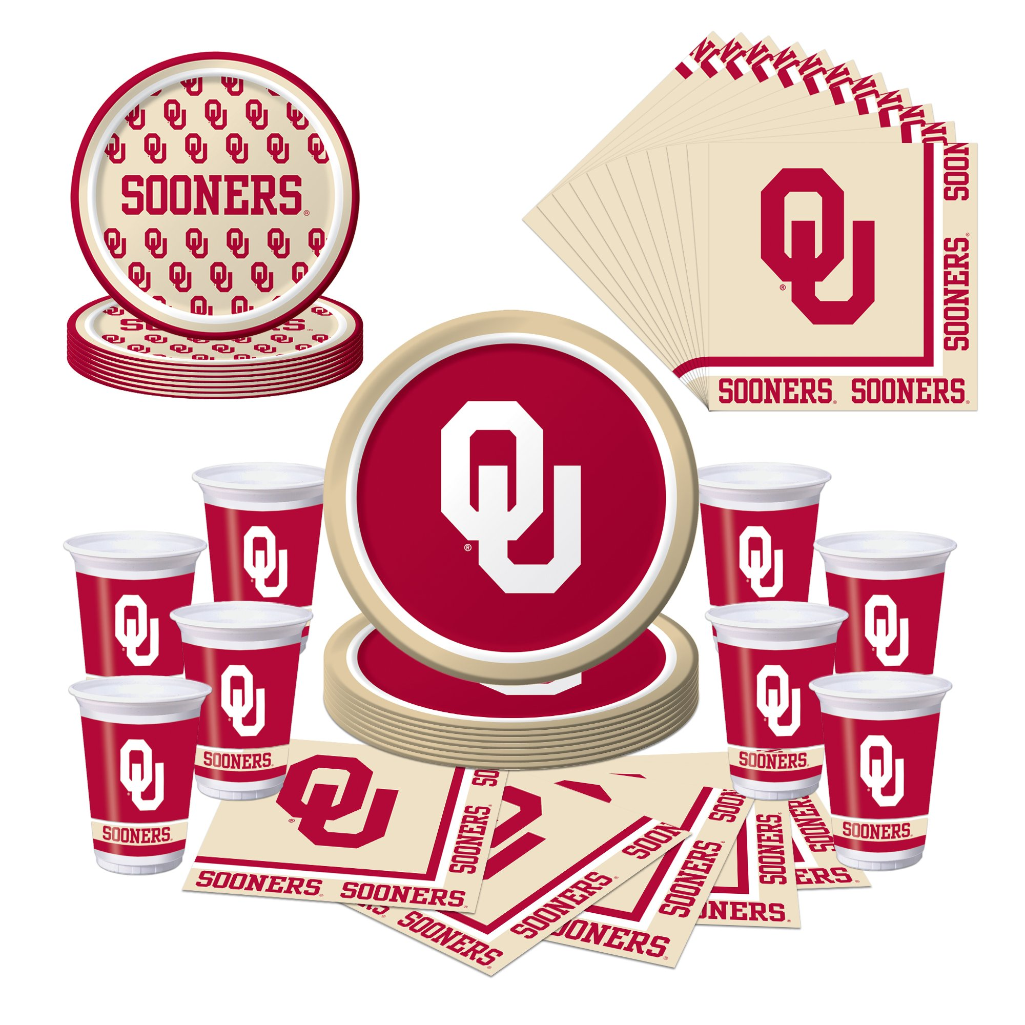 Oklahoma Sooners Party Pack - Plates, Cups, Napkins