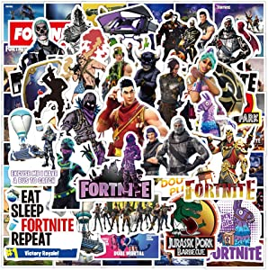 100 pcs Fort Nite Stickers for Laptop Computer Decals, Laptop Stickers Bomb Vinyl Waterproof Stickers Variety Pack for Luggage Computer Skateboard Car Motorcycle Decal for Teens Adults