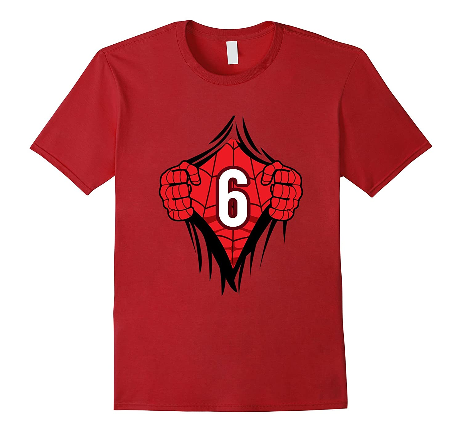 Superhero Birthday Shirt 6 Year Old