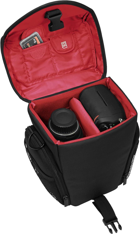 K-r K-30 avec film de protection PEDEA Sac photo pour Pentax K-5 Canon EOS 5D Mark 2 espacio para c/ámara, un objetivo y funda, pliegue adicional para los accesorios Nikon D800
