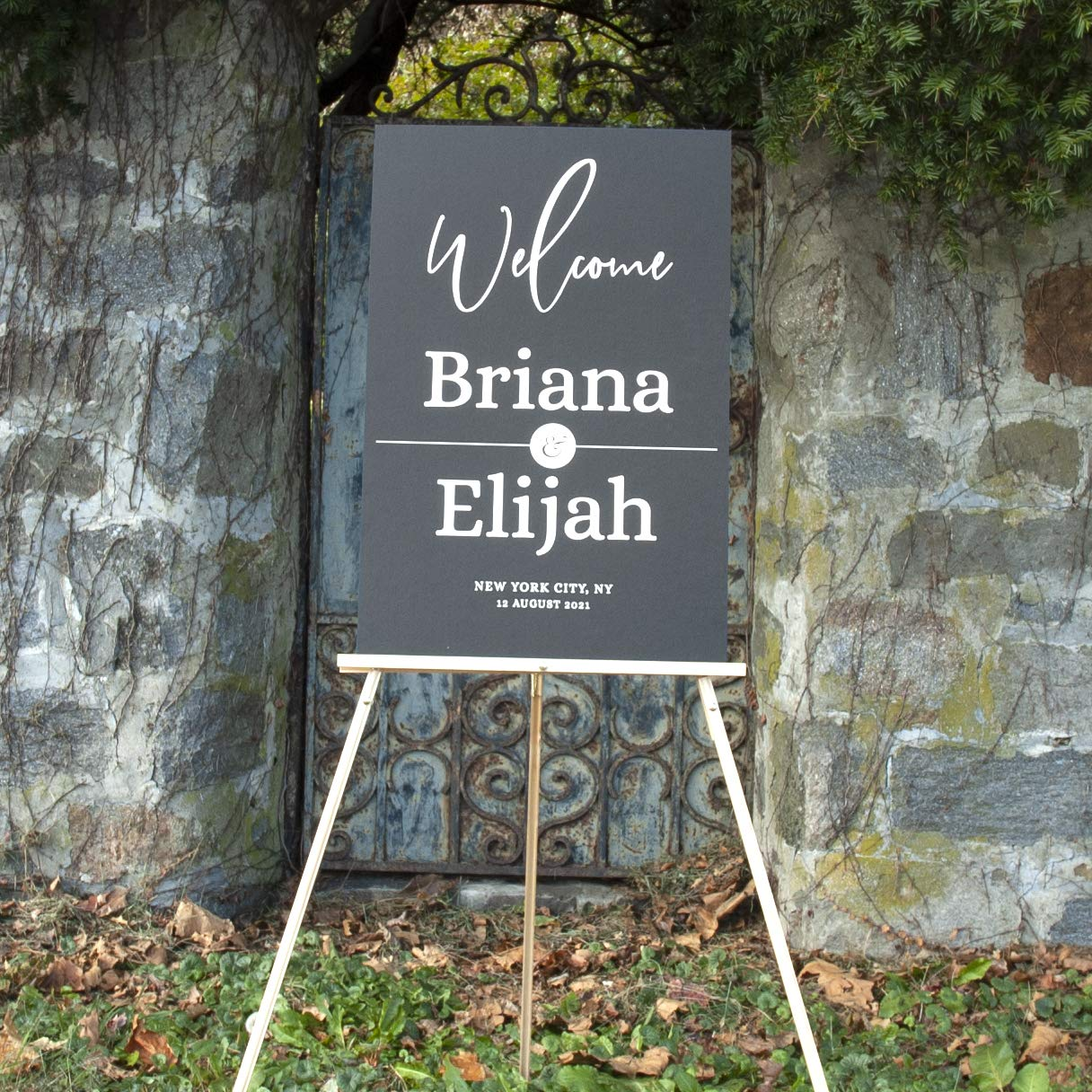 "Free Shipping Wedding /& Reception Decorations Wedding Signage Names and Date Custom Welcome Sign For Your Wedding 20/""x30/"" Personalized Modern Welcome Sign Mounting Board"
