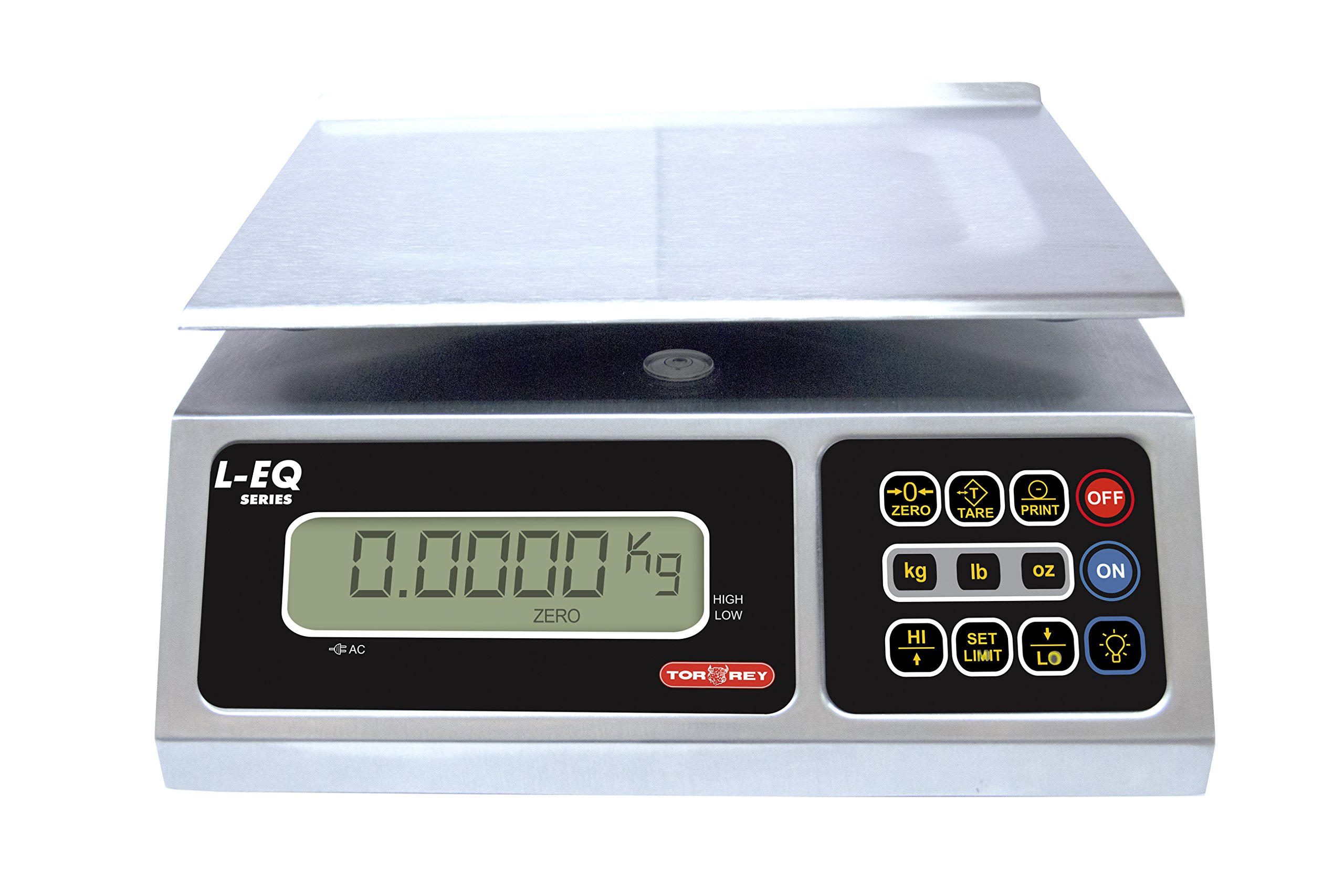 TORREY LEQ 10/20 High Precision Digital Portion Control Scale, Stainless Steel Construction, 10 kg/20 lb. Capacity by TORREY