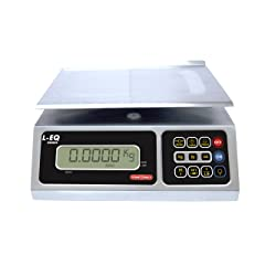 TORREY LEQ 10/20 High Precision Digital Portion Control Scale Stainless Steel Construction 10 kg/20 lb. Capacity