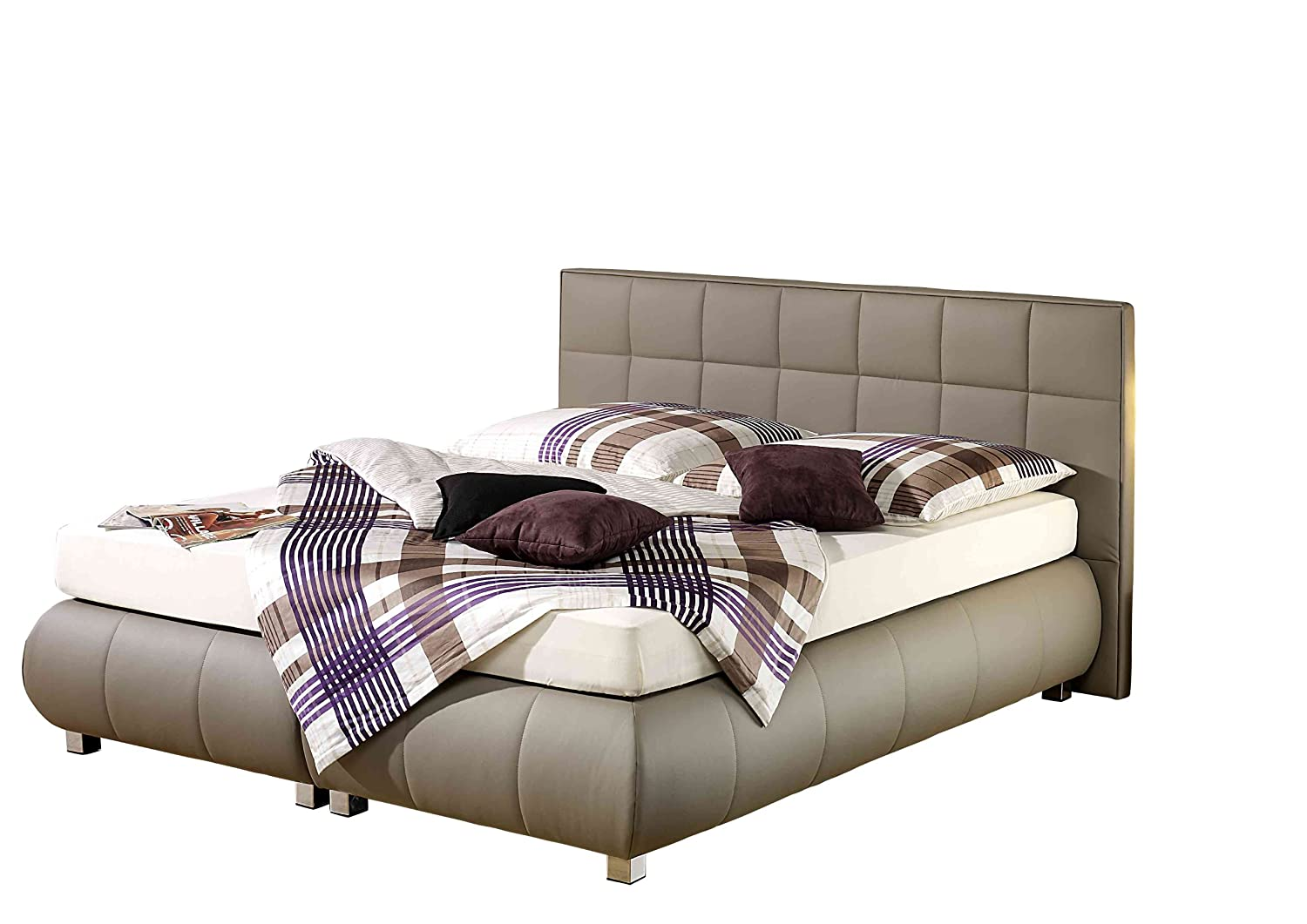 Maintal Betten 234196-4130 Boxspringbett Elias 180 x 200 cm, taupe
