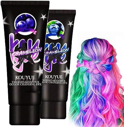 2 unidades de tinte para el cabello termocromático que cambia ...