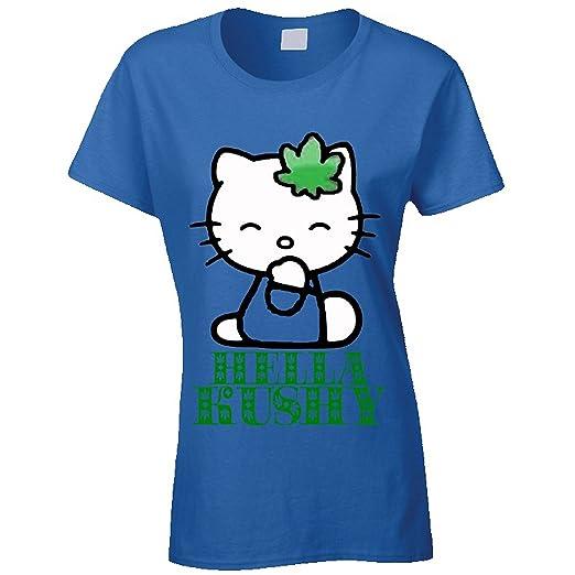 Funny Hello Kitty Hella Kushy 420 Weed T Shirt (xlarge, navy blue)