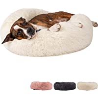 Zenify Pets Calming Dog Bed for Cats or Small Medium Dogs Puppy (50cm, White)