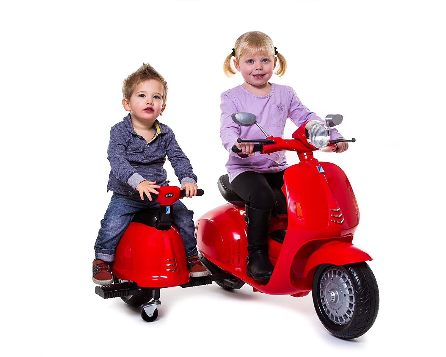 Kids@Play 882OA 12V Twin Scooter & Removeable Side Car kids At Play