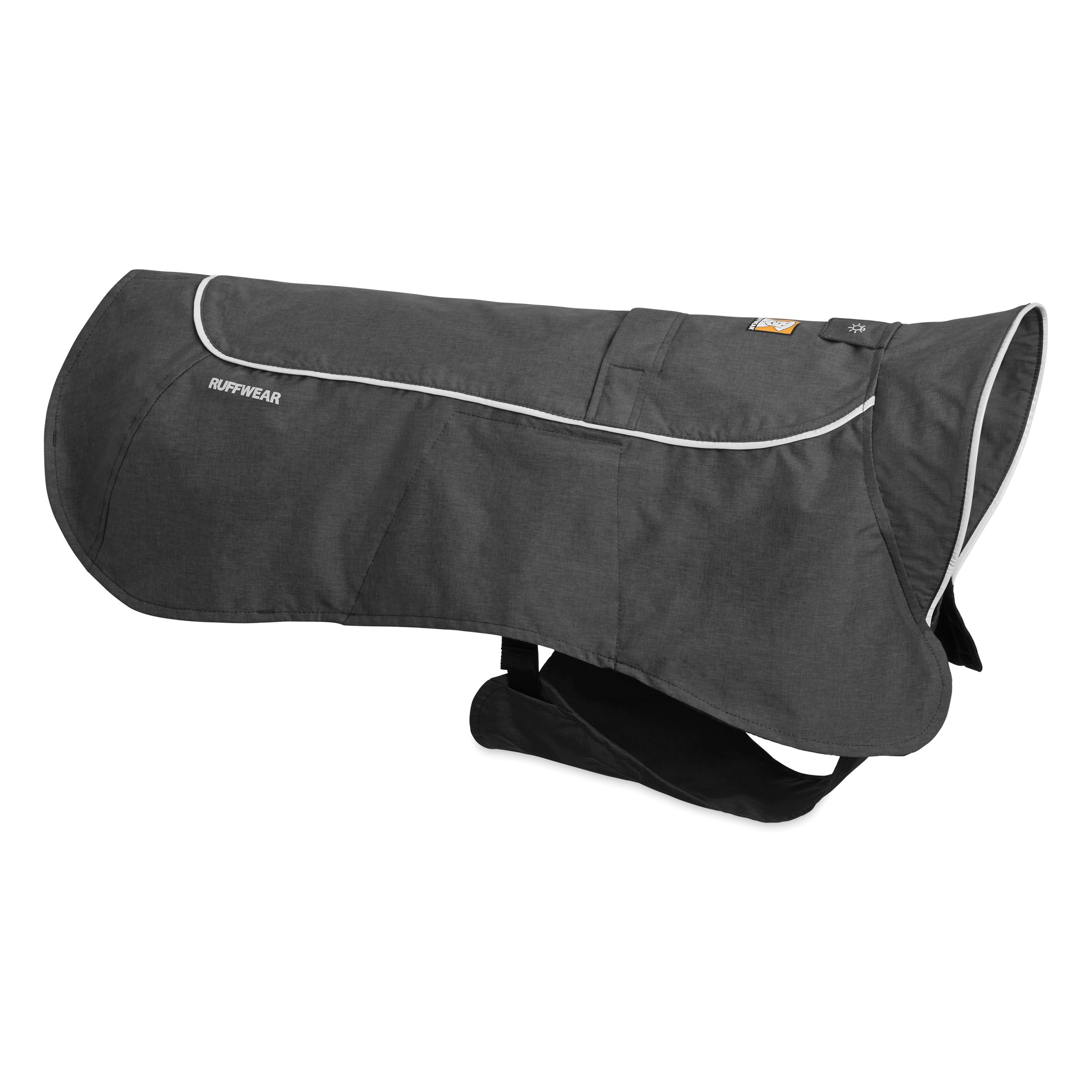 Ruffwear - Aira Full Coverage, Waterproof, Breathable Rain Jacket for Dogs, Twilight Gray, Small