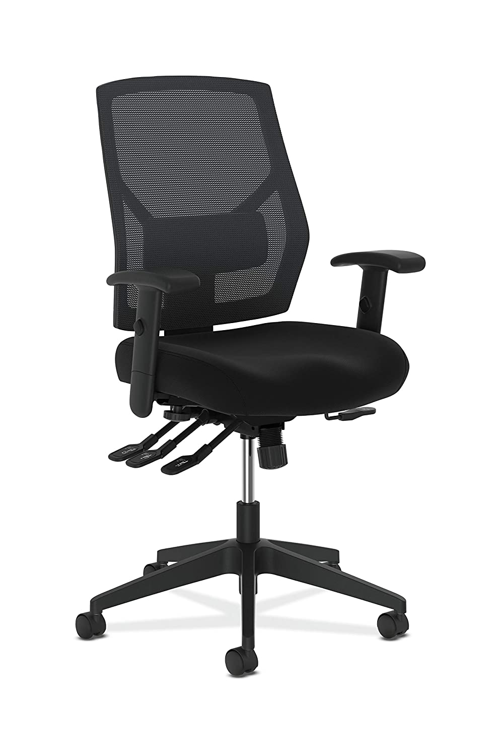 The HON Company BSXVL582ES10T Basyx Mid Back Comfortable Task Chair High Multi-Function, Fabric