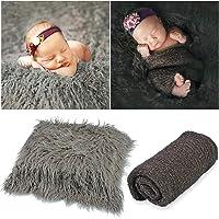 Funpa 2PCS Baby Photo Prop Fashion Creative Baby Swaddle Blanket Photography Wrap