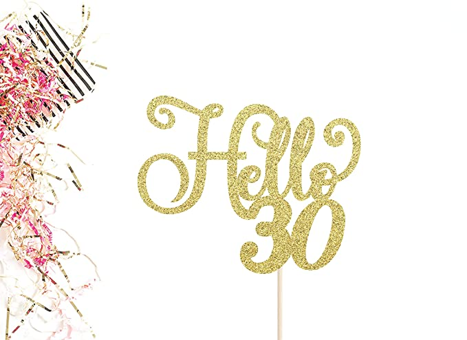 Decoración para tarta de 30 cumpleaños, 30 cumpleaños, 30 ...