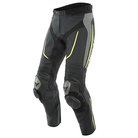 Dainese Alpha Perf. Pantalones de piel, amarillo, 5XL: Amazon.es ...