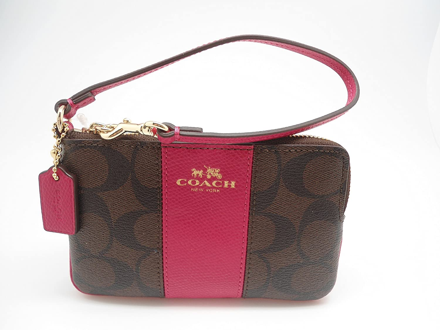 16b37af122 germany coach rogue tote bag pink purple 17993 0d1f6  where can i buy coach  f64233 signature pvc leather corner zip wristlet brown pink ruby handbags