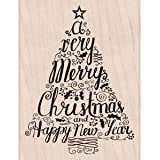 Hero Arts Mounted Rubber Stamps 3.25-inch x 4.25-inch, Merry Christmas Tree